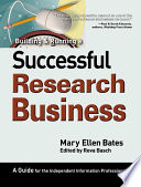 Building   Running a Successful Research Business Book