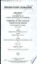 Process Patent Legislation