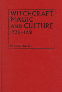 Witchcraft  Magic and Culture  1736 1951