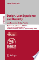 Design  User Experience  and Usability  User Experience Design Practice