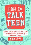How to Talk Teen ebook