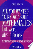 Cover of All You Wanted to Know about Mathematics But Were Afraid to Ask
