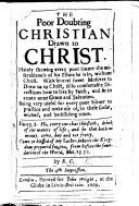 The Poor Doubting Christian Drawn to Christ     By E  C  The 4th Impression  B L