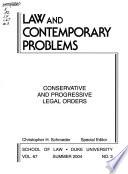 Conservative and progressive legal orders