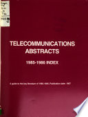 Telecommunications Abstracts