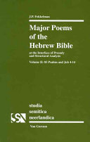 Major Poems of the Hebrew Bible: At the Interface of ...