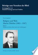 Religion und Welt: Martin Dibelius (1883-1947). Band 3