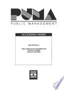 Public Management Occasional Papers Public Service Pay Determination And Pay Systems In Oecd Countries No 2