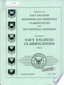 Manual Of Navy Enlisted Manpower And Personnel Classifications And Occupational Standards