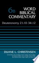 Deuteronomy 21 10 34 12  Volume 6B