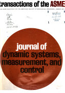Journal of Dynamic Systems, Measurement, and Control
