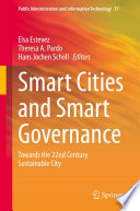 Smart Cities and Smart Governance Book