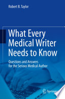 What Every Medical Writer Needs to Know
