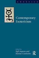 Contemporary Esotericism