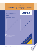 2012 Standards for Ambulatory Surgery Centers Book