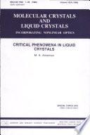 Critical Phenomena in Liquid Crystals