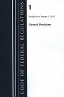 Code of Federal Regulations  Title 01