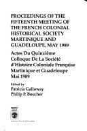 Pdf Actes Du ... Colloque de la French Colonial Historical Society