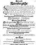 Das grosse Nürnbergische Rechen-Buch, in welchem ... die im bürgerlichen Leben vorkommende ... Rechnungs-Arthen ... richtig angezeiget ... worden ... Nebst einer ... Einleitung zur Algebra und einer Vorrede Herrn D. J. W. Bajers
