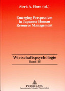 Emerging Perspectives in Japanese Human Resource Management