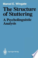 The Structure of Stuttering Book