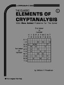 Elements of Cryptanalysis