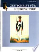 Zeitschrift für Heereskunde