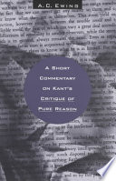 A Short Commentary On Kant S Critique Of Pure Reason