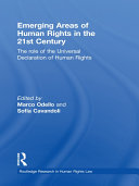 Emerging Areas of Human Rights in the 21st Century