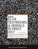 El Hi Textbooks Serials In Print 2017
