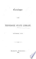 Catalogue Of The Tennessee State Library By J Meigs Edited By His Father R J Meigs