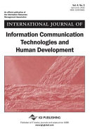 International Journal of Information Communication Technologies and Human Development  IJICTHD   Volume 4