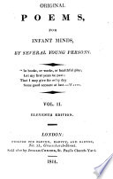 Original Poems For Infant Minds By Several Young Persons A And J Taylor And Others