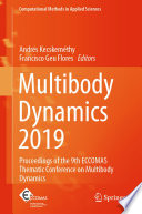 Multibody Dynamics 2019 Book PDF