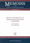 Spectral Asymptotics on Degenerating Hyperbolic 3-Manifolds