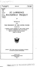St  Lawrence Waterway Project