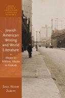 Jewish American Writing and World Literature