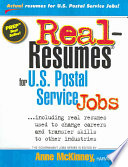 Real Resumes For U S Postal Service Jobs Book PDF