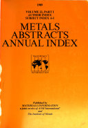 Metals Abstracts