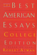 The Best American Essays Book