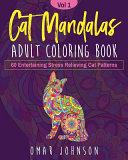 Cat Mandalas Adult Coloring Book