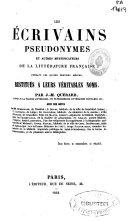 La France litteraire, ou Dictionnaire bibliographique des savants, historiens et gens de lettres de la France ....