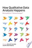 How Qualitative Data Analysis Happens Book