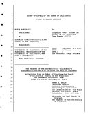California  Court of Appeal  1st Appellate District   Records and Briefs Book
