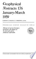 Geophysical Abstracts, 176 January-March 1959