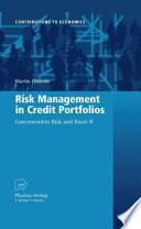 Risk Management in Credit Portfolios