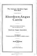 The American Aberdeen Angus Herd book Book