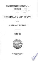 Biennial Report of the Secretary of State of the State of Kansas