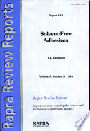 """Solvent-Free Adhesives"" by T.E. Rolando"