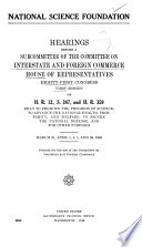 National Science Foundation  H R  12  S  247  and H R  359
